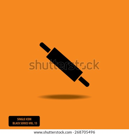 Rolling Pin - Single Icon Series vol. 13 - stock vector