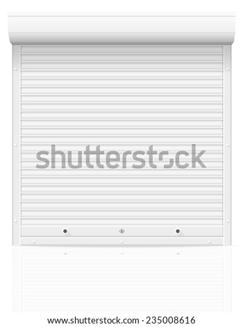 rolling shutters vector illustration isolated on white background - stock vector