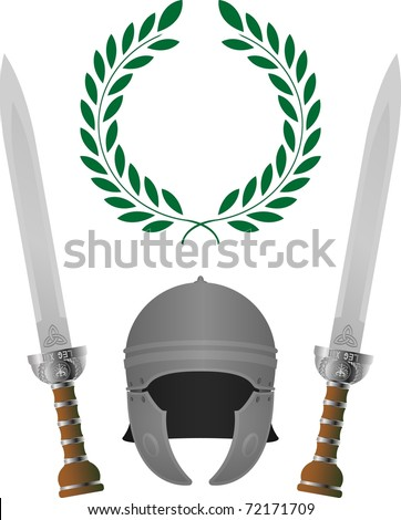 roman glory. fourth variant. vector illustration - stock vector