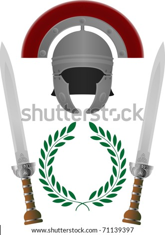 roman glory. third variant. vector illustration - stock vector