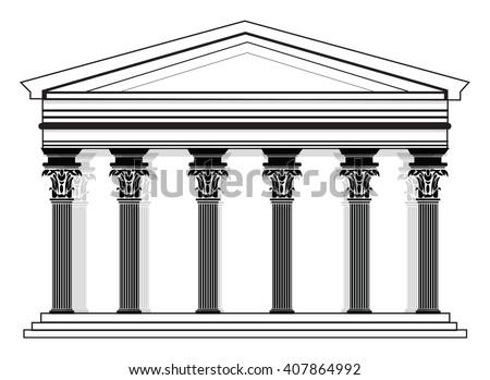Roman Architecture Columns doric column stock images, royalty-free images & vectors