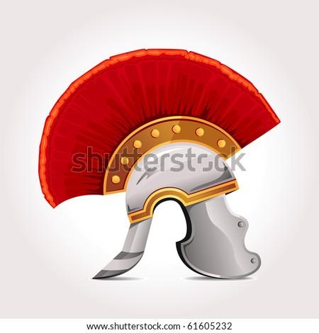 Roman Helmet - stock vector
