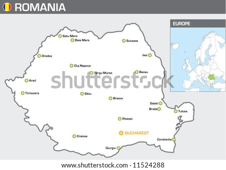 Romania - stock vector