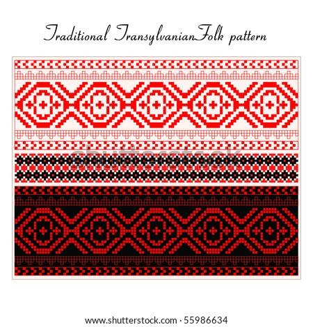 Romanian Folk pattern - stock vector