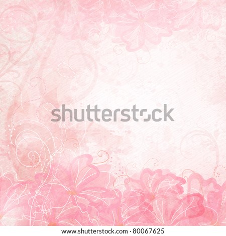 Romantic Background - stock vector