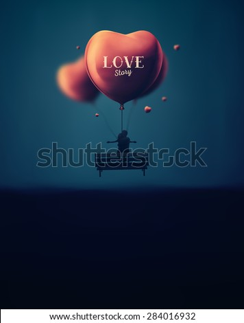 Romantic background, love story, eps 10 - stock vector