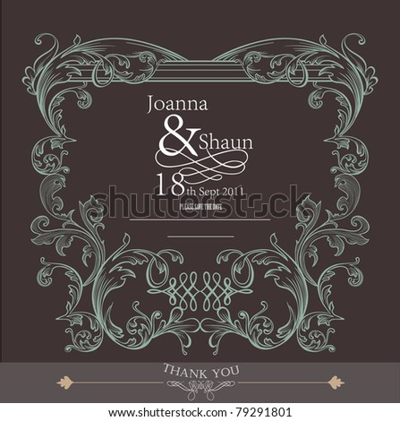 romantic card design- wedding or packaging cover - stock vector
