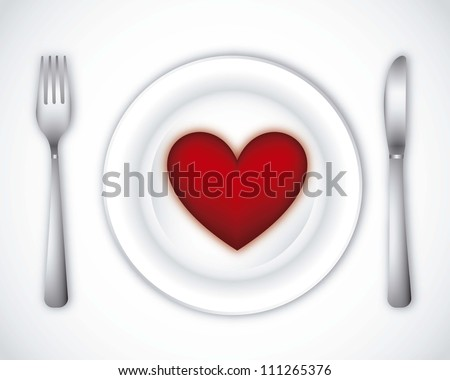 romantic dinner over gray background. vector illustration - stock vector