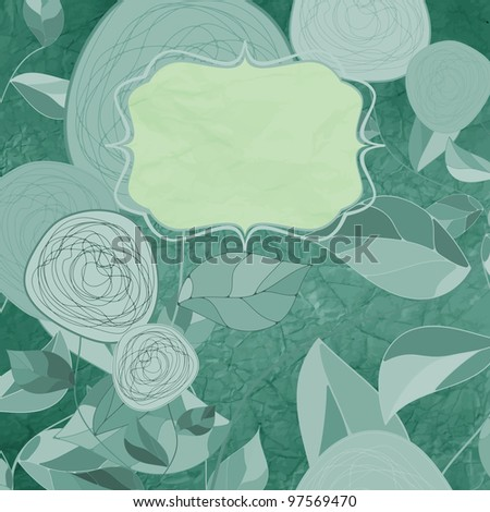 Romantic floral card with vintage flower. And also includes EPS 8 vector - stock vector