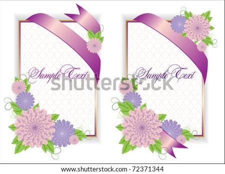 Romantic Flower Backgrounds - stock vector