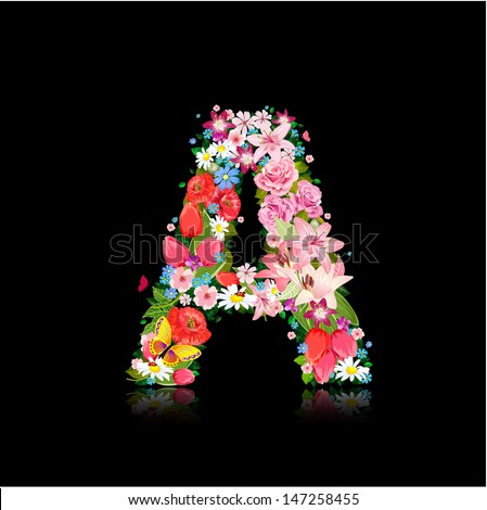 Romantic Letter Beautiful Flowers Stock Vector 147258455 ...