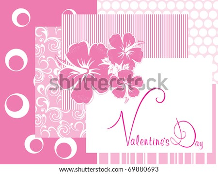 romantic pink color illustration for valentine day - stock vector