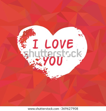Romantic Poster Doodle Heart Pattern On Stock Vector 369627908