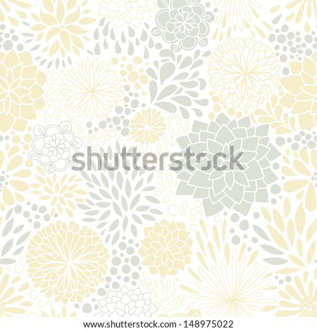 Romantic seamless floral pattern. Seamless pattern can be used for wallpaper, pattern fills, web page backgrounds, surface textures. Gorgeous seamless floral background. Eps 10 - stock vector