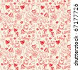 romantic seamless pattern - stock vector