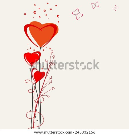 Romantic valentine  backgrounds. Valentines Day. - stock vector