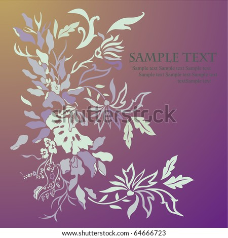 Romantic vector floral background.