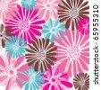 Romantic vector. happy birthday card with flowers - stock vector