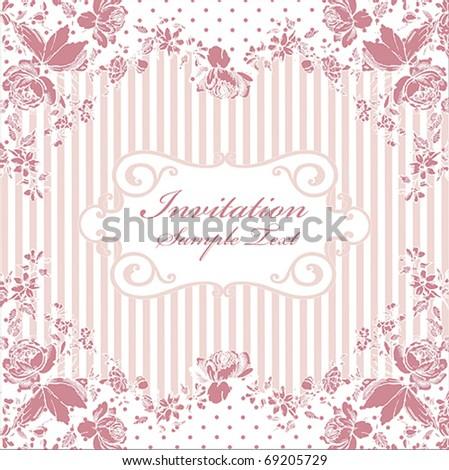 Romantic Vintage Card Design - stock vector