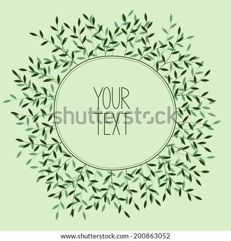 Romantic wreath with place for your text. - stock vector