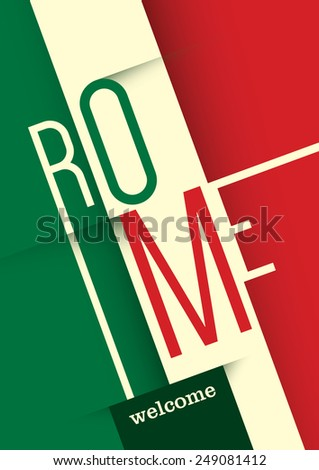 Rome poster design. Vector illustration. - stock vector