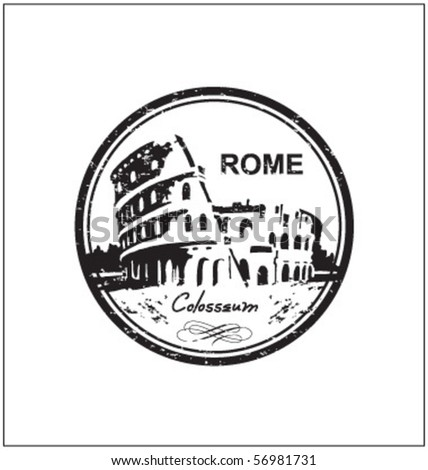 rome stamp - stock vector