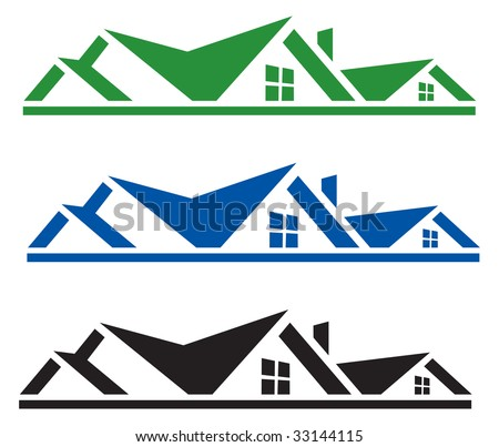 Rooftop logo for design - stock vector