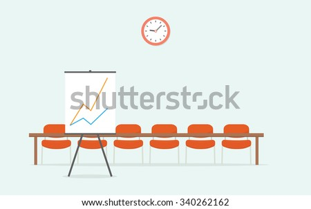 Room for presentations - stock vector