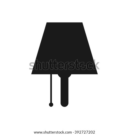 room lamp logo vector. - stock vector