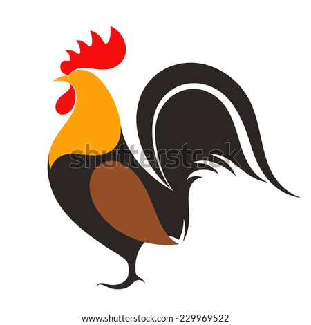 Rooster - stock vector