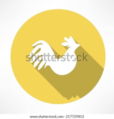 rooster icon - stock vector