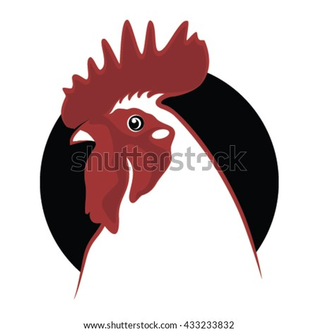 Rooster symbol - stock vector