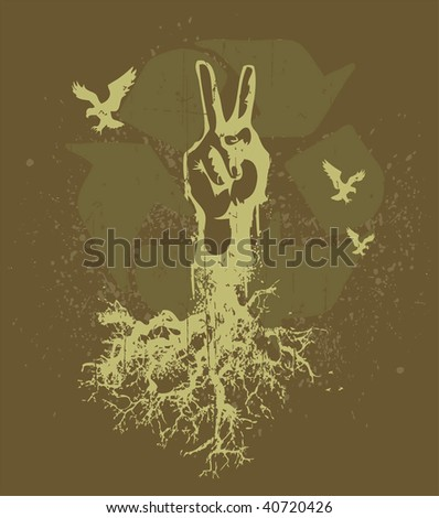 roots - stock vector
