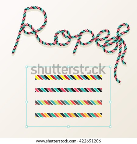 Rope brush braid for decoration design. - stock vector