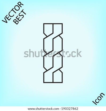 rope outline vector - stock vector
