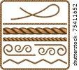 Ropes and knots - stock photo