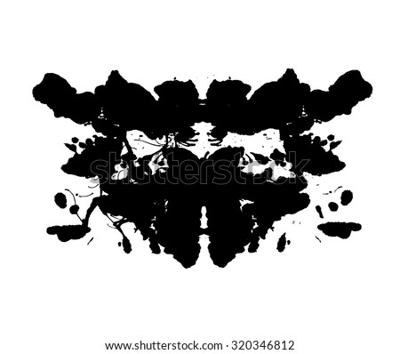 Rorschach test. Psycho diagnostic inkblot test Rorschach, the projective Rorschach technique, or simply the inkblot test. - stock vector