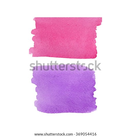 Rose and serenity watercolor vector background.