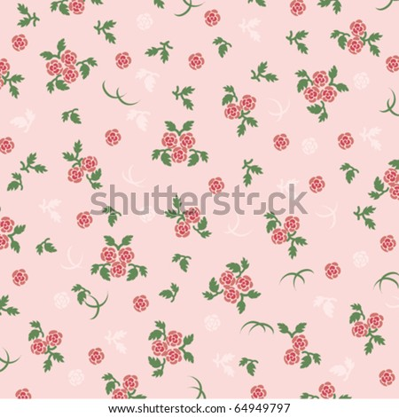 rose background pink - stock vector