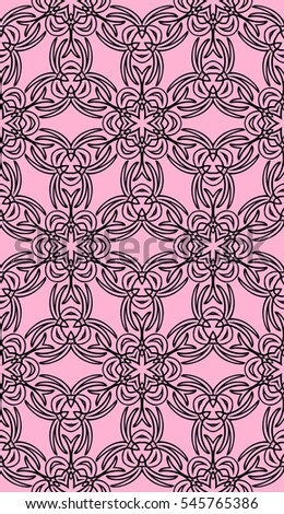 rose color decorative floral seamless pattern. modern design. vector illustration. template for greeting card, holiday invitation, textile ornament