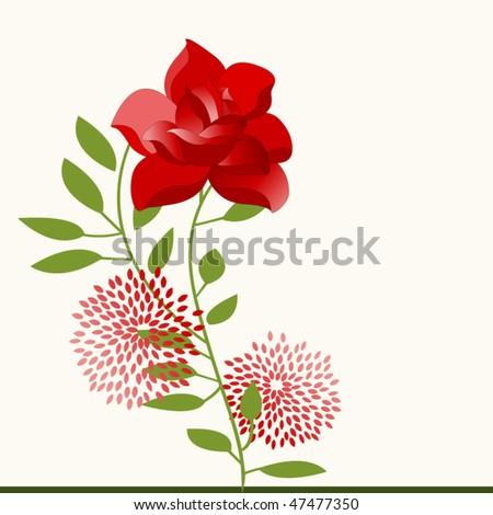 rose flower - stock vector