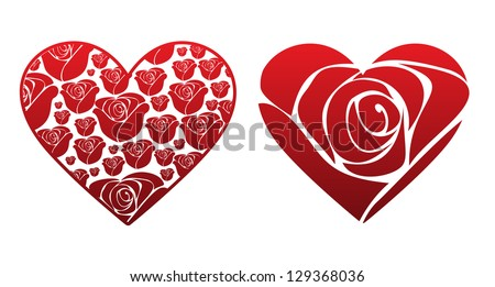 Rose Heart - stock vector