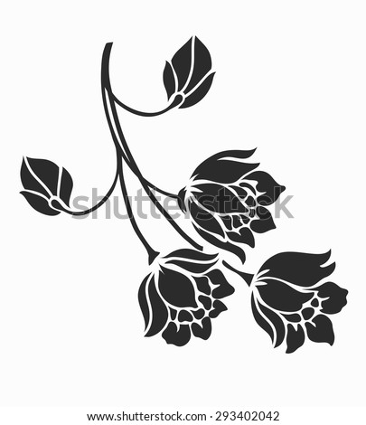 Rose motif,Flower design elements vector. - stock vector