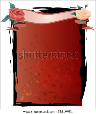 Rose Theme Template Vector Illustration - stock vector
