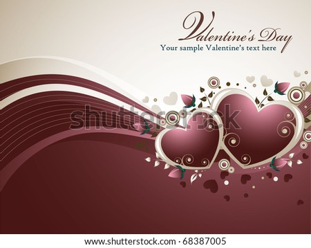 Rose Valentine's Background - stock vector