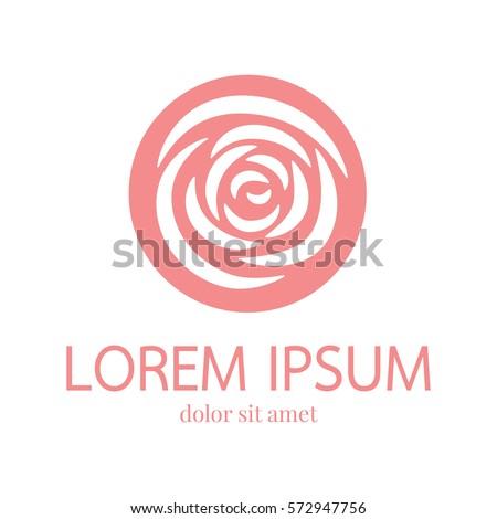 Rose petal logo