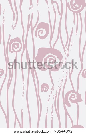 Roses abstract seamless wallpaper in pastel colors - stock vector