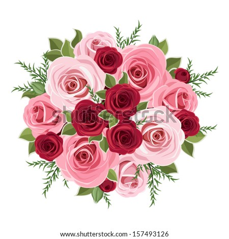 Roses bouquet. Vector illustration. - stock vector