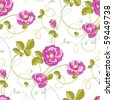 roses seamless background - stock vector