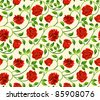 Roses seamless background - pattern for continuous replicate. See more seamless backgrounds in my portfolio. - stock vector